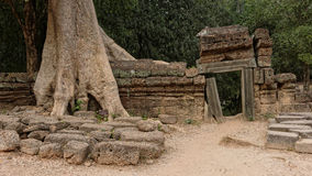Ruins of Angkor Wat in Cambodia Stock Photo