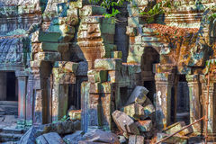 Ruins Angkor Wat, Khmer temple complex, Asia. Siem Reap, Cambodi Royalty Free Stock Photography