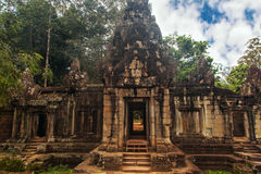Ruins of Angkor Wat, part of Khmer temple complex, Asia. Siem R. Eap, Cambodia. Ancient Khmer architecture in jungle Stock Photo