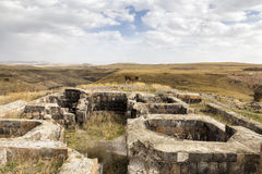 The ruins of Ani. Ani is a ruined medieval Armenian city Royalty Free Stock Images