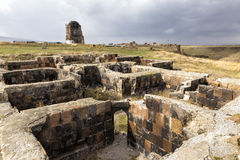 The ruins of Ani. Ani is a ruined medieval Armenian city. Stock Photos