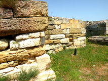 Ruins of the antic greek town Histria Stock Photos