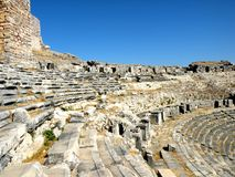 Ruins of antic harbour Milet, Minor Asia, Turkey, Greek colony Royalty Free Stock Photography