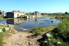 Ruins of antic harbour Milet, Minor Asia, Turkey, Greek colony Royalty Free Stock Photo