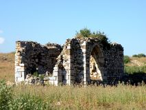 Ruins of antic harbour Milet, Minor Asia, Turkey, Greek colony Stock Photos