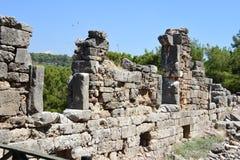 Ruins of antic port Phaselis, Turkey stock photo