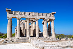 The ruins of the antic temple. The ruins of the antic greek temple. Island Aegina Stock Photography