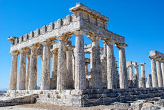 The ruins of the antic temple. The ruins of the antic greek temple. Island Aegina Royalty Free Stock Images