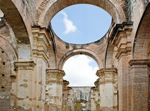 Ruins of the Antigua Cathedral. The ruins of the Antigua Cathedral in Guatemala, South America royalty free stock images