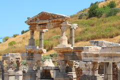 Ruins of an antique building. In an antique city the Ephesus Stock Photos