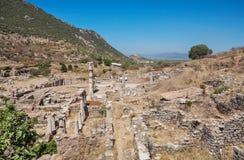 Ruins of the antique Ephesus. Izmir Province, Turkey. Royalty Free Stock Photo