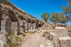 Ruins of the antique Ephesus. Selcuk, Turkey. Royalty Free Stock Photos
