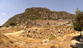 Ruins of antique greek-roman theatre Stock Image