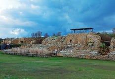 Ruins of Antique Harbor, Caesarea Maritima Royalty Free Stock Images