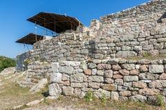 Ruins of Antique Thracian sanctuary Tatul, Bulgaria. Ruins of Antique Thracian sanctuary Tatul, Kardzhali Region, Bulgaria Royalty Free Stock Photo