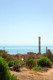 Ruins of Antonine Baths in Carthage. Royalty Free Stock Photography