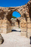Ruins of Antonine Baths at Carthage, Tunisia Stock Photo