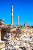 Ruins of Antonine Baths at Carthage, Tunisia Royalty Free Stock Photography