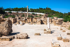 Ruins of Antonine Baths at Carthage, Tunisia Stock Image