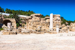 Ruins of Antonine Baths at Carthage, Tunisia Stock Images