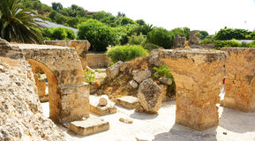 Ruins of the Antonine Baths Stock Photo