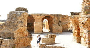 Ruins of the Antonine Baths Royalty Free Stock Photography