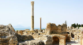 Ruins of the Antonine Baths Royalty Free Stock Images