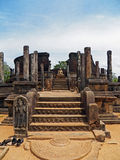 Ruins at Anuradhapura, Sri Lanka. Buddha Ruins at the Sacred City of Anuradhapura, Sri Lanka Stock Photo