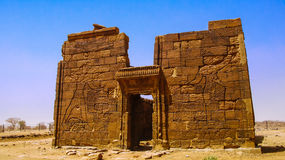 Ruins of Apademak temple Kush civilization, Naqa, Meroe Sudan. Ruins of Apademak temple Kush civilization, Naqa, Meroe, Sudan Stock Image