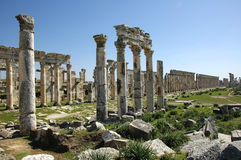 Ruins of Apamea. Apamea or Apameia, ancient city of the Seleucid kings, on the right bank of the Orontes river (Syria Stock Photo