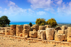 Ruins of the Aphrodte sanctuary in Cyprus. Stock Photography
