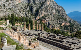 Ruins of Apollo temple in Ancient Delphi Royalty Free Stock Image