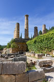 Ruins of the Apollo temple, Delphi, Greece Stock Image