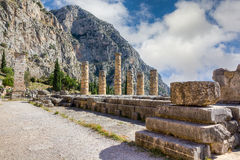 Ruins of Apollo temple, Delphi, Greece Stock Photo