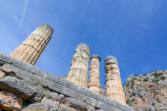 Ruins of Apollo temple, Delphi, Greece Royalty Free Stock Images