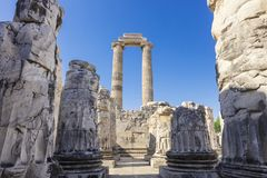 Ruins of the Apollo Temple in Didyma, Turkey. Stock Image