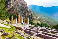The ruins of Apollo temple Stock Photography