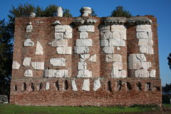 Ruins at Appia Antica in Rome (Italy) Stock Photo