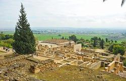 Ruins of the arab city of Medina Zahara, Cordoba, Andalusia, Spain Stock Photos