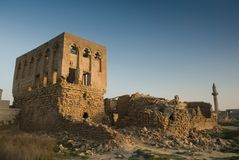 Ruins of Arab forts. Ruins and remains of arab forts and traditional house Stock Photography