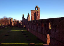 The ruins of Arbroath Abbey. Stock Photography