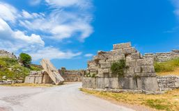 Ruins of Arcadian gete in Ancient Messina. Peloponnes, Greece Royalty Free Stock Image