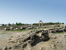 Ruins and arch in Hierapolis Royalty Free Stock Image