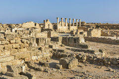 Ruins at the Archaeological site Kato Paphos in Cyprus. royalty free stock image
