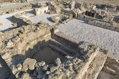 Ruins at the Archaeological site Kato Paphos in Cyprus. Stock Photo