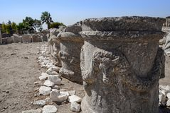 Ruins and archaeological site of Knidos. City of ancient Greece, Mugla, Turkey stock image