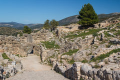 Ruins of the archaic city of Mycenae Royalty Free Stock Photo