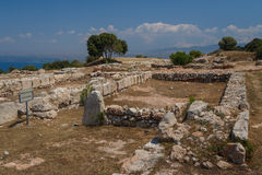 Ruins of the archaic Vouni palace, North Cyprus Royalty Free Stock Image
