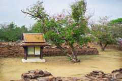 Ruins architecture in Ayutthaya historic park, Thailand Stock Photo