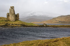Ruins of Ardverk Castle - Loch Assynt - Scotland Royalty Free Stock Images